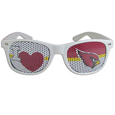 Arizona Cardinals I Heart Game Day Shades - Our officially licensed I Heart game day shades are the perfect accessory for the devoted Arizona Cardinals fan! The sunglasses have durable polycarbonate frames with flex hinges for comfort and damage resistance. The lenses feature brightly colored team clings that are perforated for visibility. Officially licensed NFL product Licensee: Siskiyou Buckle .com