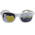San Diego Chargers I Heart Game Day Shades - Our officially licensed I Heart game day shades are the perfect accessory for the devoted San Diego Chargers fan! The sunglasses have durable polycarbonate frames with flex hinges for comfort and damage resistance. The lenses feature brightly colored team clings that are perforated for visibility. Officially licensed NFL product Licensee: Siskiyou Buckle .com