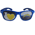 San Diego Chargers I Heart Game Day Shades - Our officially licensed I Heart game day shades are the perfect accessory for the devoted San Diego Chargers fan! The sunglasses have durable polycarbonate frames with flex hinges for comfort and damage resistance. The lenses feature brightly colored team clings that are perforated for visibility. Officially licensed NFL product Licensee: Siskiyou Buckle Thank you for visiting CrazedOutSports.com