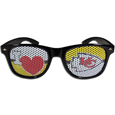 Kansas City Chiefs I Heart Game Day Shades - Our officially licensed I Heart game day shades are the perfect accessory for the devoted Kansas City Chiefs fan! The sunglasses have durable polycarbonate frames with flex hinges for comfort and damage resistance. The lenses feature brightly colored team clings that are perforated for visibility. Officially licensed NFL product Licensee: Siskiyou Buckle .com