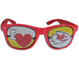 Kansas City Chiefs I Heart Game Day Shades - Our officially licensed I Heart game day shades are the perfect accessory for the devoted Kansas City Chiefs fan! The sunglasses have durable polycarbonate frames with flex hinges for comfort and damage resistance. The lenses feature brightly colored team clings that are perforated for visibility. Officially licensed NFL product Licensee: Siskiyou Buckle Thank you for visiting CrazedOutSports.com