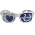 Indianapolis Colts I Heart Game Day Shades - Our officially licensed I Heart game day shades are the perfect accessory for the devoted Indianapolis Colts fan! The sunglasses have durable polycarbonate frames with flex hinges for comfort and damage resistance. The lenses feature brightly colored team clings that are perforated for visibility. Officially licensed NFL product Licensee: Siskiyou Buckle Thank you for visiting CrazedOutSports.com
