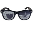 Dallas Cowboys I Heart Game Day Shades - Our officially licensed I Heart game day shades are the perfect accessory for the devoted Dallas Cowboys fan! The sunglasses have durable polycarbonate frames with flex hinges for comfort and damage resistance. The lenses feature brightly colored team clings that are perforated for visibility. Officially licensed NFL product Licensee: Siskiyou Buckle Thank you for visiting CrazedOutSports.com