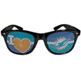 Miami Dolphins I Heart Game Day Shades - Our officially licensed I Heart game day shades are the perfect accessory for the devoted Miami Dolphins fan! The sunglasses have durable polycarbonate frames with flex hinges for comfort and damage resistance. The lenses feature brightly colored team clings that are perforated for visibility. Officially licensed NFL product Licensee: Siskiyou Buckle Thank you for visiting CrazedOutSports.com
