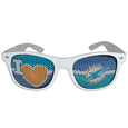 Miami Dolphins I Heart Game Day Shades - Our officially licensed I Heart game day shades are the perfect accessory for the devoted Miami Dolphins fan! The sunglasses have durable polycarbonate frames with flex hinges for comfort and damage resistance. The lenses feature brightly colored team clings that are perforated for visibility. Officially licensed NFL product Licensee: Siskiyou Buckle .com