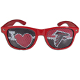 Atlanta Falcons I Heart Game Day Shades - Our officially licensed I Heart game day shades are the perfect accessory for the devoted Atlanta Falcons fan! The sunglasses have durable polycarbonate frames with flex hinges for comfort and damage resistance. The lenses feature brightly colored team clings that are perforated for visibility. Officially licensed NFL product Licensee: Siskiyou Buckle .com