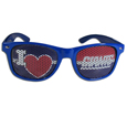 New York Giants I Heart Game Day Shades - Our officially licensed I Heart game day shades are the perfect accessory for the devoted New York Giants fan! The sunglasses have durable polycarbonate frames with flex hinges for comfort and damage resistance. The lenses feature brightly colored team clings that are perforated for visibility. Officially licensed NFL product Licensee: Siskiyou Buckle .com