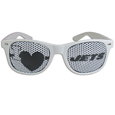 New York Jets I Heart Game Day Shades - Our officially licensed I Heart game day shades are the perfect accessory for the devoted New York Jets fan! The sunglasses have durable polycarbonate frames with flex hinges for comfort and damage resistance. The lenses feature brightly colored team clings that are perforated for visibility. Officially licensed NFL product Licensee: Siskiyou Buckle .com