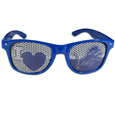 Detroit Lions I Heart Game Day Shades - Our officially licensed I Heart game day shades are the perfect accessory for the devoted Detroit Lions fan! The sunglasses have durable polycarbonate frames with flex hinges for comfort and damage resistance. The lenses feature brightly colored team clings that are perforated for visibility. Officially licensed NFL product Licensee: Siskiyou Buckle .com