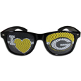 Green Bay Packers I Heart Game Day Shades - Our officially licensed I Heart game day shades are the perfect accessory for the devoted Green Bay Packers fan! The sunglasses have durable polycarbonate frames with flex hinges for comfort and damage resistance. The lenses feature brightly colored team clings that are perforated for visibility. Officially licensed NFL product Licensee: Siskiyou Buckle .com