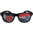 New England Patriots I Heart Game Day Shades - Our officially licensed I Heart game day shades are the perfect accessory for the devoted New England Patriots fan! The sunglasses have durable polycarbonate frames with flex hinges for comfort and damage resistance. The lenses feature brightly colored team clings that are perforated for visibility. Officially licensed NFL product Licensee: Siskiyou Buckle .com