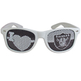 Oakland Raiders I Heart Game Day Shades - Our officially licensed I Heart game day shades are the perfect accessory for the devoted Oakland Raiders fan! The sunglasses have durable polycarbonate frames with flex hinges for comfort and damage resistance. The lenses feature brightly colored team clings that are perforated for visibility. Officially licensed NFL product Licensee: Siskiyou Buckle Thank you for visiting CrazedOutSports.com