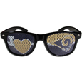 Los Angeles Rams I Heart Game Day Shades - Our officially licensed Los Angeles Rams I Heart game day shades are the perfect accessory for the devoted Los Angeles Rams fan! The sunglasses have durable polycarbonate frames with flex hinges for comfort and damage resistance. The lenses feature brightly colored Los Angeles Rams clings that are perforated for visibility. Officially licensed NFL product Licensee: Siskiyou Buckle .com