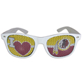 Washington Redskins I Heart Game Day Shades - Our officially licensed I Heart game day shades are the perfect accessory for the devoted Washington Redskins fan! The sunglasses have durable polycarbonate frames with flex hinges for comfort and damage resistance. The lenses feature brightly colored team clings that are perforated for visibility. Officially licensed NFL product Licensee: Siskiyou Buckle Thank you for visiting CrazedOutSports.com