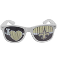 New Orleans Saints I Heart Game Day Shades - Our officially licensed I Heart game day shades are the perfect accessory for the devoted New Orleans Saints fan! The sunglasses have durable polycarbonate frames with flex hinges for comfort and damage resistance. The lenses feature brightly colored team clings that are perforated for visibility. Officially licensed NFL product Licensee: Siskiyou Buckle Thank you for visiting CrazedOutSports.com