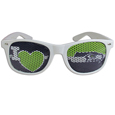 Seattle Seahawks I Heart Game Day Shades - Our officially licensed I Heart game day shades are the perfect accessory for the devoted Seattle Seahawks fan! The sunglasses have durable polycarbonate frames with flex hinges for comfort and damage resistance. The lenses feature brightly colored team clings that are perforated for visibility. Officially licensed NFL product Licensee: Siskiyou Buckle Thank you for visiting CrazedOutSports.com