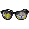 Pittsburgh Steelers I Heart Game Day Shades - Our officially licensed I Heart game day shades are the perfect accessory for the devoted Pittsburgh Steelers fan! The sunglasses have durable polycarbonate frames with flex hinges for comfort and damage resistance. The lenses feature brightly colored team clings that are perforated for visibility. Officially licensed NFL product Licensee: Siskiyou Buckle .com