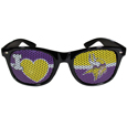 Minnesota Vikings I Heart Game Day Shades - Our officially licensed I Heart game day shades are the perfect accessory for the devoted Minnesota Vikings fan! The sunglasses have durable polycarbonate frames with flex hinges for comfort and damage resistance. The lenses feature brightly colored team clings that are perforated for visibility. Officially licensed NFL product Licensee: Siskiyou Buckle .com