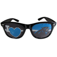 Carolina Panthers I Heart Game Day Shades - Our officially licensed I Heart game day shades are the perfect accessory for the devoted Carolina Panthers fan! The sunglasses have durable polycarbonate frames with flex hinges for comfort and damage resistance. The lenses feature brightly colored team clings that are perforated for visibility. Officially licensed NFL product Licensee: Siskiyou Buckle .com