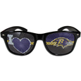 Baltimore Ravens I Heart Game Day Shades - Our officially licensed I Heart game day shades are the perfect accessory for the devoted Baltimore Ravens fan! The sunglasses have durable polycarbonate frames with flex hinges for comfort and damage resistance. The lenses feature brightly colored team clings that are perforated for visibility. Officially licensed NFL product Licensee: Siskiyou Buckle. !