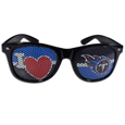 Tennessee Titans I Heart Game Day Shades - Our officially licensed I Heart game day shades are the perfect accessory for the devoted Tennessee Titans fan! The sunglasses have durable polycarbonate frames with flex hinges for comfort and damage resistance. The lenses feature brightly colored team clings that are perforated for visibility. Officially licensed NFL product Licensee: Siskiyou Buckle .com