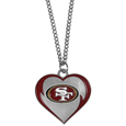San Francisco 49ers Heart Necklace