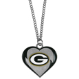 Green Bay Packers Heart Necklace