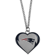 New England Patriots Heart Necklace