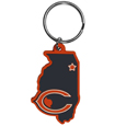 Chicago Bears Home State Flexi Key Chain - Our flexible Chicago Bears home state key chains are a fun way to carry your team with you. The pliable rubber material is extremely durable and is the layered colors add a great 3D look to this popular home state designed key chain. This is really where quality and a great price meet to create a true fan favorite.