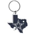 Dallas Cowboys Home State Flexi Key Chain - Our flexible Dallas Cowboys home state key chains are a fun way to carry your team with you. The pliable rubber material is extremely durable and is the layered colors add a great 3D look to this popular home state designed key chain. This is really where quality and a great price meet to create a true fan favorite.