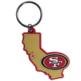 San Francisco 49ers Home State Flexi Key Chain - Our flexible San Francisco 49ers home state key chains are a fun way to carry your team with you. The pliable rubber material is extremely durable and is the layered colors add a great 3D look to this popular home state designed key chain. This is really where quality and a great price meet to create a true fan favorite.