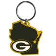 Green Bay Packers Home State Flexi Key Chain - Our flexible Green Bay Packers home state key chains are a fun way to carry your team with you. The pliable rubber material is extremely durable and is the layered colors add a great 3D look to this popular home state designed key chain. This is really where quality and a great price meet to create a true fan favorite.