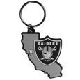 Oakland Raiders Home State Flexi Key Chain - Our flexible Oakland Raiders home state key chains are a fun way to carry your team with you. The pliable rubber material is extremely durable and is the layered colors add a great 3D look to this popular home state designed key chain. This is really where quality and a great price meet to create a true fan favorite.