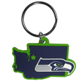 Seattle Seahawks Home State Flexi Key Chain - Our flexible Seattle Seahawks home state key chains are a fun way to carry your team with you. The pliable rubber material is extremely durable and is the layered colors add a great 3D look to this popular home state designed key chain. This is really where quality and a great price meet to create a true fan favorite.