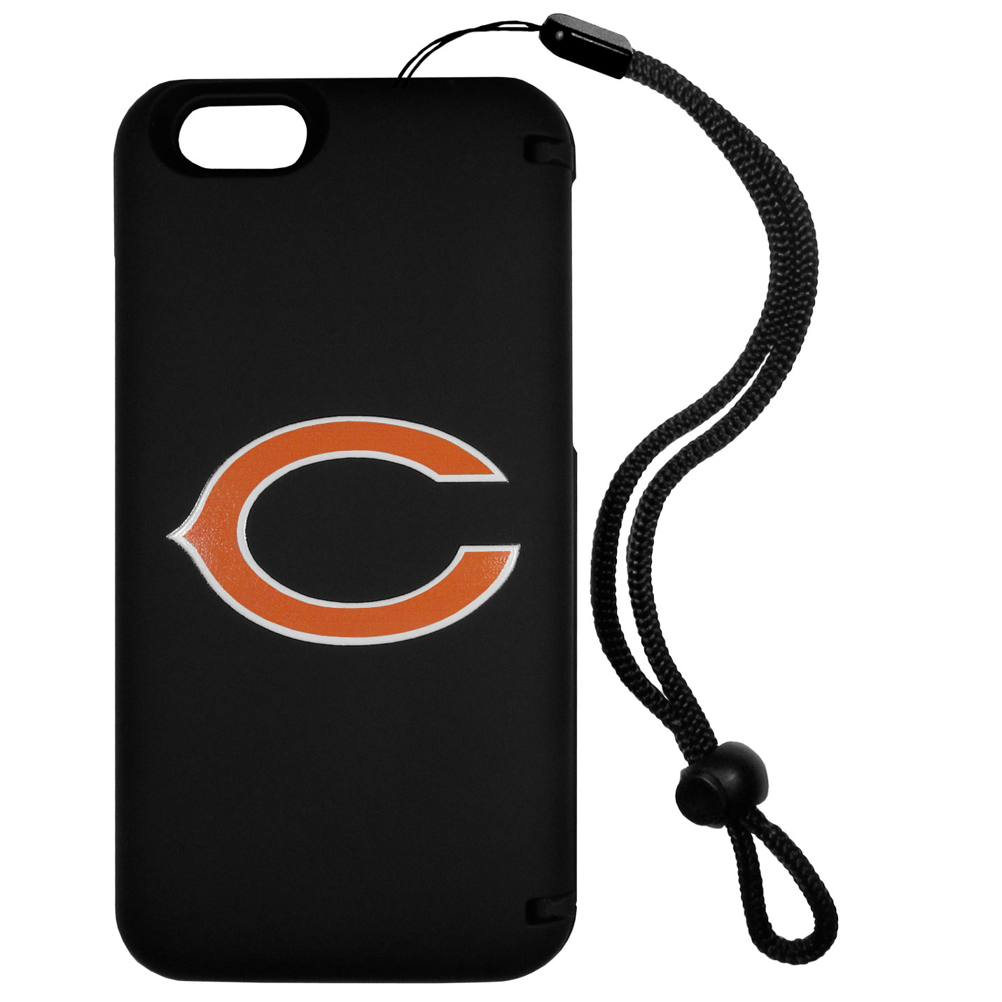Chicago Bears iPhone 6 Everything Case - This case really does have everything but the kitchen sink! The hidden compartment lets you keep your cards, money and tickets to the big game safe and secure and has a compact mirror so you can make sure your game face is ready to go. It also comes with a kickstand to make chatting and watching videos a breeze. The wrist strap allows you to travel with ease with your everything case. If that's not enough, it also comes with the Chicago Bears logo printed in expert detail on the front.