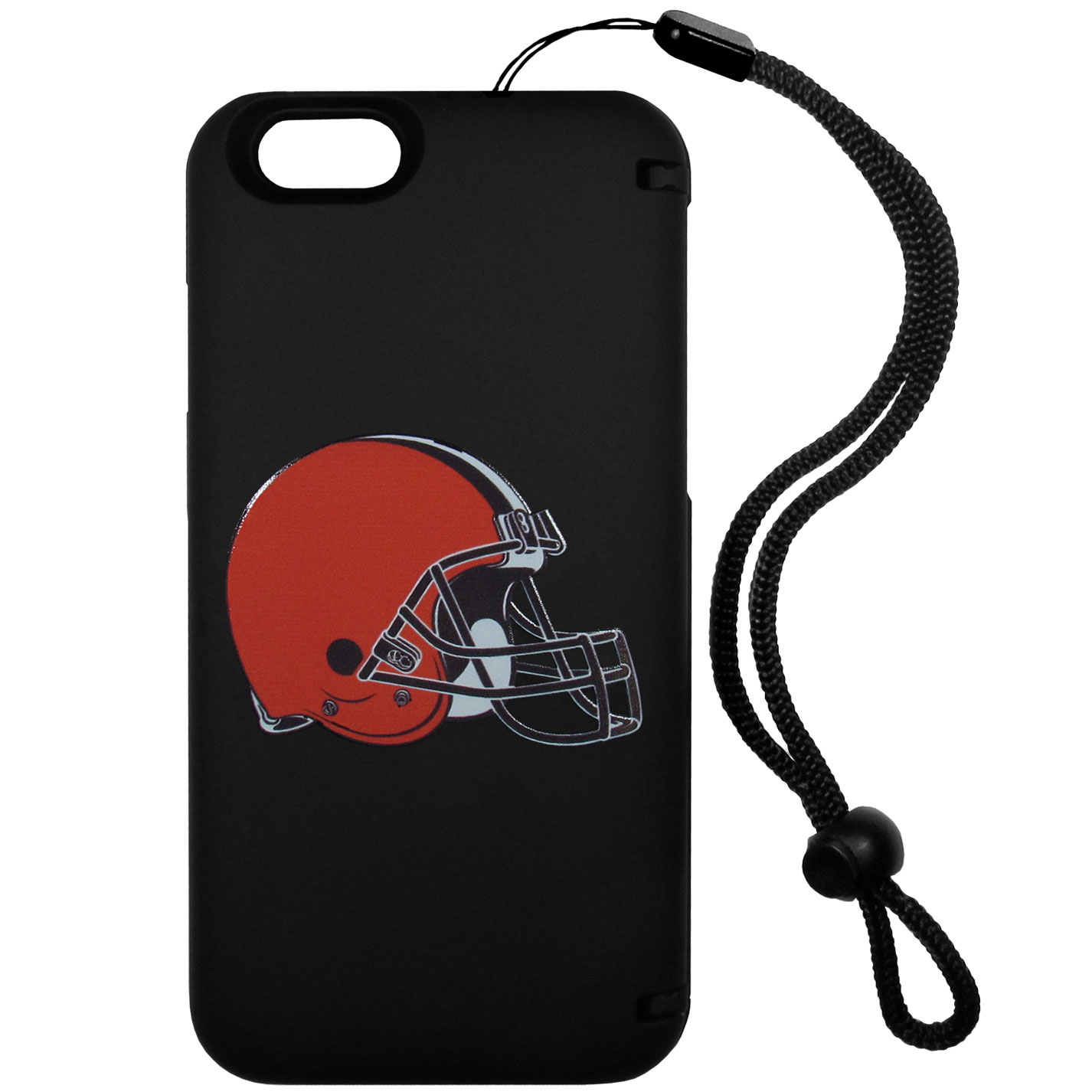 Cleveland Browns iPhone 6 Everything Case - This case really does have everything but the kitchen sink! The hidden compartment lets you keep your cards, money and tickets to the big game safe and secure and has a compact mirror so you can make sure your game face is ready to go. It also comes with a kickstand to make chatting and watching videos a breeze. The wrist strap allows you to travel with ease with your everything case. If that's not enough, it also comes with the Cleveland Browns logo printed in expert detail on the front.