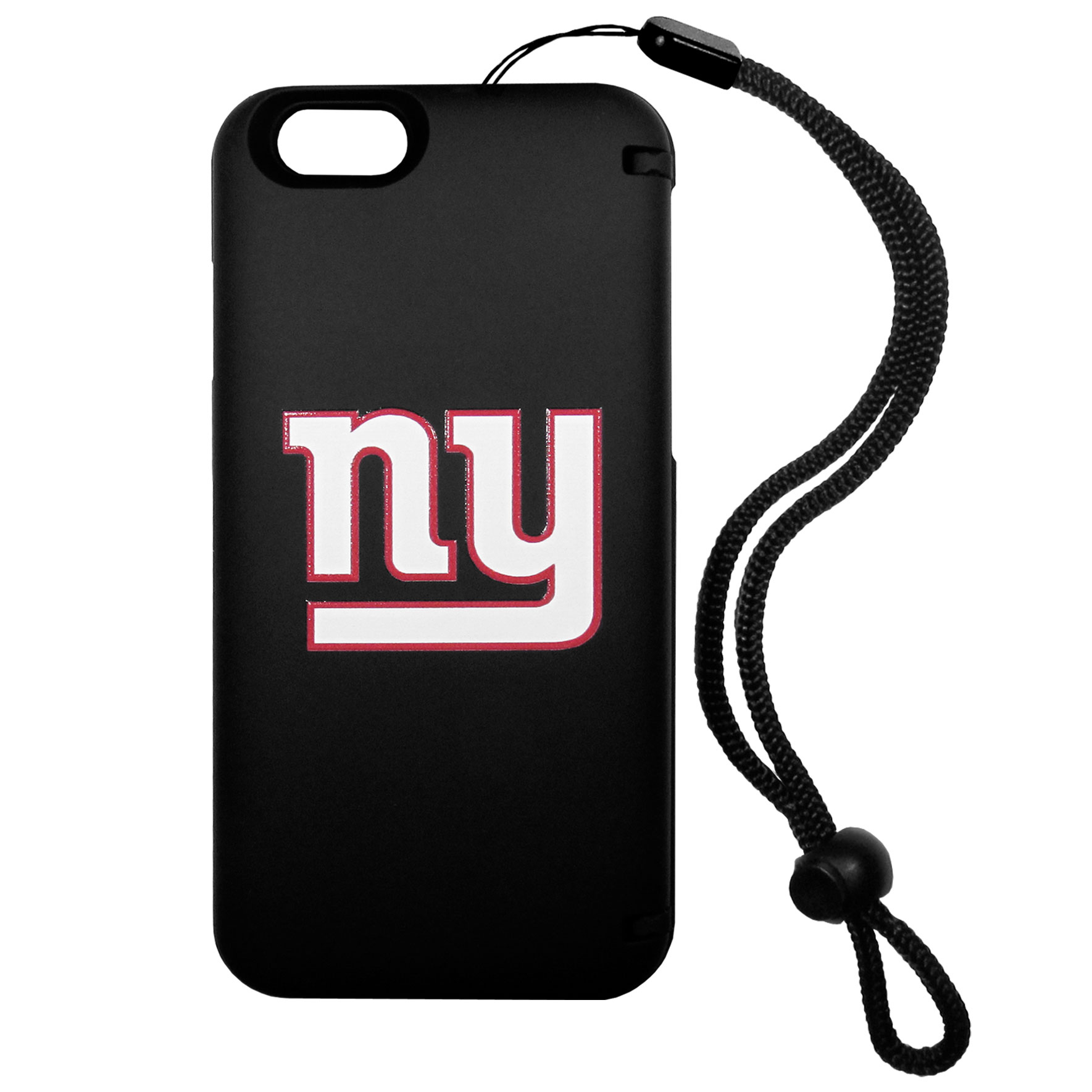 New York Giants iPhone 6 Everything Case - This case really does have everything but the kitchen sink! The hidden compartment lets you keep your cards, money and tickets to the big game safe and secure and has a compact mirror so you can make sure your game face is ready to go. It also comes with a kickstand to make chatting and watching videos a breeze. The wrist strap allows you to travel with ease with your everything case. If that's not enough, it also comes with the New York Giants logo printed in expert detail on the front.