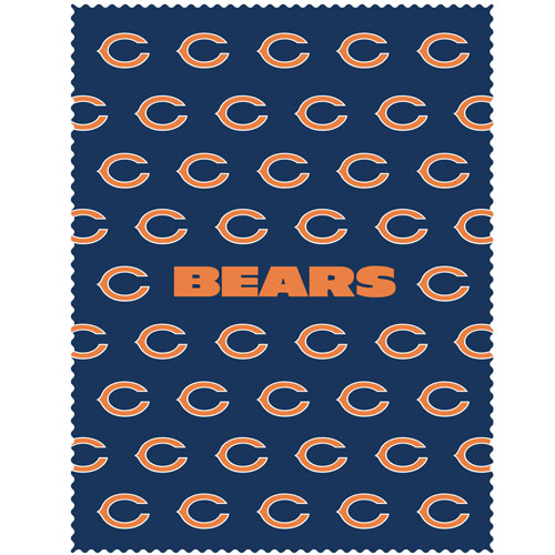 "Chicago Bears iPad Microfiber Cleaning Cloth - Our NFL Chicago Bears iPad microfiber cleaning cloth is great for keeping your iPad screen free of oil, dirt and smudges. The cloth is sized to perfectly fit the iPad screen so that it lays over it as added protection when the device is in a case. 7.5"" x 9.5"" cloth. Officially licensed NFL product Licensee: Siskiyou Buckle .com"