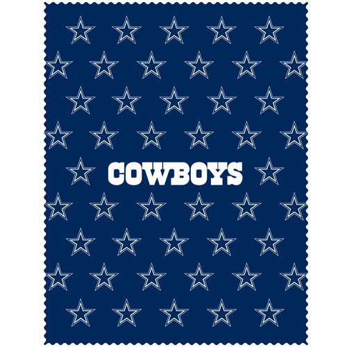 "Dallas Cowboys iPad Microfiber Cleaning Cloth - Our NFL Dallas Cowboys iPad microfiber cleaning cloth is great for keeping your iPad screen free of oil, dirt and smudges. The cloth is sized to perfectly fit the iPad screen so that it lays over it as added protection when the device is in a case. 7.5"" x 9.5"" cloth. Officially licensed NFL product Licensee: Siskiyou Buckle .com"