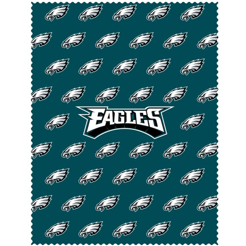 "Philadelphia Eagles iPad Microfiber Cleaning Cloth - Our NFL Philadelphia Eagles iPad microfiber cleaning cloth is great for keeping your iPad screen free of oil, dirt and smudges. The cloth is sized to perfectly fit the iPad screen so that it lays over it as added protection when the device is in a case. 7.5"" x 9.5"" cloth. Officially licensed NFL product Licensee: Siskiyou Buckle .com"