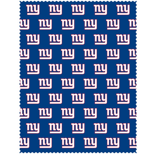 "New York Giants iPad Microfiber Cleaning Cloth - Our NFL New York Giants iPad microfiber cleaning cloth is great for keeping your iPad screen free of oil, dirt and smudges. The cloth is sized to perfectly fit the iPad screen so that it lays over it as added protection when the device is in a case. 7.5"" x 9.5"" cloth. Officially licensed NFL product Licensee: Siskiyou Buckle .com"