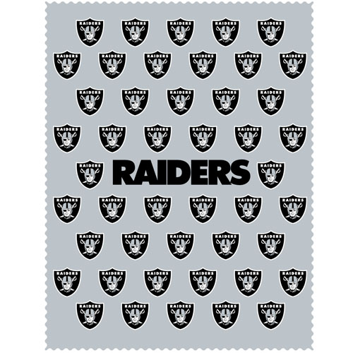 "Oakland Raiders iPad Microfiber Cleaning Cloth - Our NFL Oakland Raiders iPad microfiber cleaning cloth is great for keeping your iPad screen free of oil, dirt and smudges. The cloth is sized to perfectly fit the iPad screen so that it lays over it as added protection when the device is in a case. 7.5"" x 9.5"" cloth. Officially licensed NFL product Licensee: Siskiyou Buckle Thank you for visiting CrazedOutSports.com"