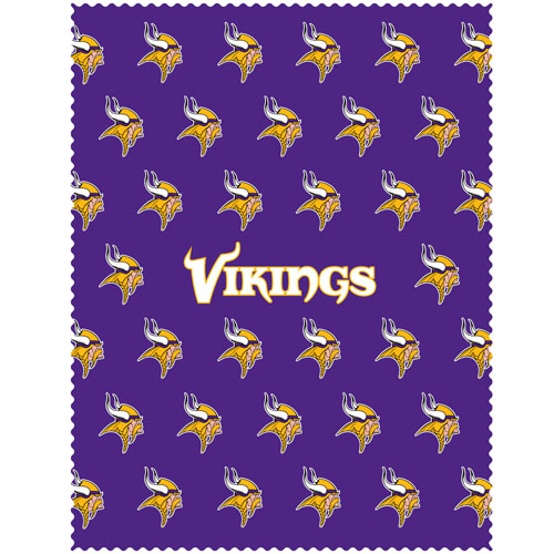 "Minnesota Vikings iPad Microfiber Cleaning Cloth - Our NFL Minnesota Vikings iPad microfiber cleaning cloth is great for keeping your iPad screen free of oil, dirt and smudges. The cloth is sized to perfectly fit the iPad screen so that it lays over it as added protection when the device is in a case. 7.5"" x 9.5"" cloth. Officially licensed NFL product Licensee: Siskiyou Buckle .com"