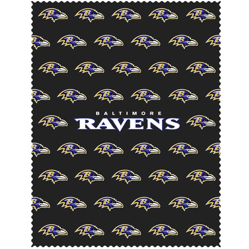"Baltimore Ravens iPad Microfiber Cleaning Cloth - Our NFL Baltimore Ravens iPad microfiber cleaning cloth is great for keeping your iPad screen free of oil, dirt and smudges. The cloth is sized to perfectly fit the iPad screen so that it lays over it as added protection when the device is in a case. 7.5"" x 9.5"" cloth. Officially licensed NFL product Licensee: Siskiyou Buckle .com"