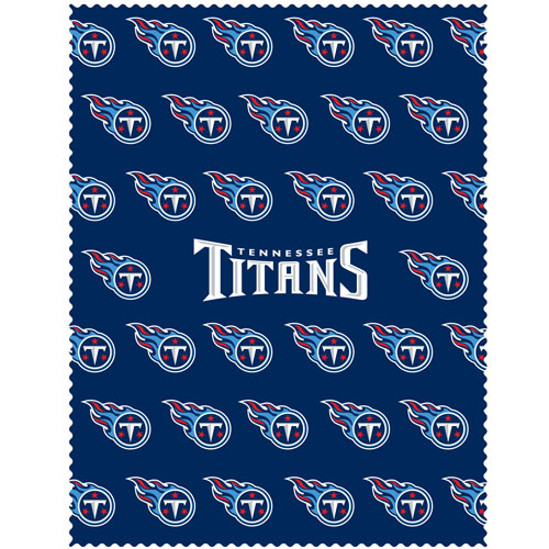 "Tennessee Titans iPad Microfiber Cleaning Cloth - Our NFL Tennessee Titans iPad microfiber cleaning cloth is great for keeping your iPad screen free of oil, dirt and smudges. The cloth is sized to perfectly fit the iPad screen so that it lays over it as added protection when the device is in a case. 7.5"" x 9.5"" cloth. Officially licensed NFL product Licensee: Siskiyou Buckle .com"