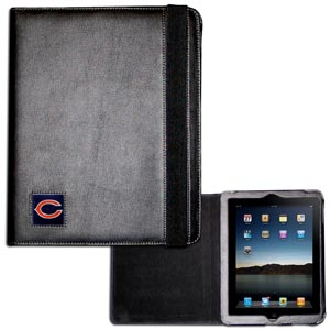 Chicago Bears iPad Case - The perfect iPad accessory. The black case hold the iPad 1 and the iPad 2 with Smart Cover and features a cast and enameled NFL Chicago Bears team emblem. Officially licensed NFL product Licensee: Siskiyou Buckle .com