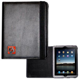 Cincinnati Bengals iPad Case - The perfect iPad accessory. The black case hold the iPad 1 and the iPad 2 with Smart Cover and features a cast and enameled NFL Cincinnati Bengals team emblem. Officially licensed NFL product Licensee: Siskiyou Buckle .com