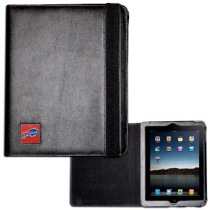 Buffalo Bills iPad Case - The perfect iPad accessory. The black case hold the iPad 1 and the iPad 2 with Smart Cover and features a cast and enameled NFL Buffalo Bills team emblem. Officially licensed NFL product Licensee: Siskiyou Buckle .com