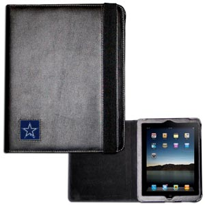 Dallas Cowboys iPad Case - The perfect iPad accessory. The black case hold the iPad 1 and the iPad 2 with Smart Cover and features a cast and enameled NFL Dallas Cowboys team emblem. Officially licensed NFL product Licensee: Siskiyou Buckle Thank you for visiting CrazedOutSports.com