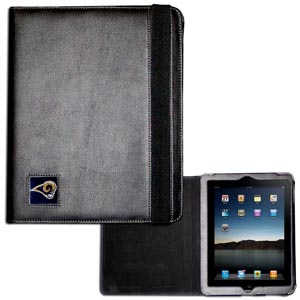 Los Angeles Rams iPad Case - The perfect iPad accessory. The black case hold the iPad 1 and the iPad 2 with Smart Cover and features a cast and enameled NFL Los Angeles Rams team emblem. Officially licensed NFL product Licensee: Siskiyou Buckle .com